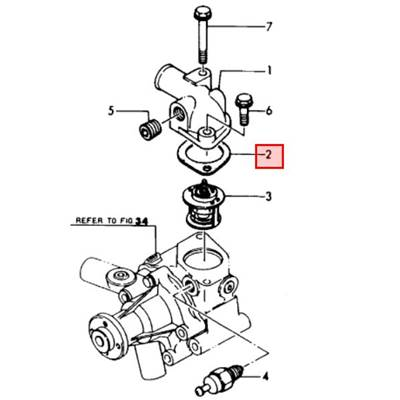 Joint de thermostat - YANMAR