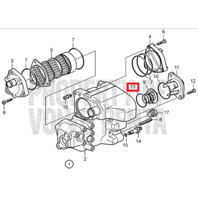 JOINT DE THERMOSTAT - VOLVO PENTA